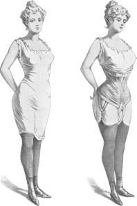 El corsé era utilizado por las mujeres para estilizar su figura. Los músculos del abdomen abarcan la misma area en el cuerpo que un corsé.