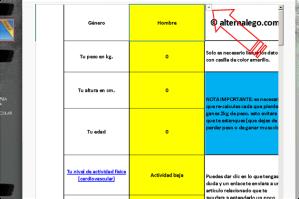 Imagen de tutorial para calculadora nutricional, buena nutricion, ejercicio fisico, bajar de peso, nutricion balanceada.