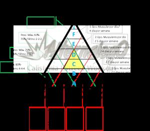 Grafica Relación frecuencia, intensidad y volumen, matriz de planeación y revisión de rutinas, alternalego.com, alternalego, imagen completa triangulo amarillo