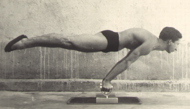 Planche posture calisthenics, bodyweight training, strength training. vintage